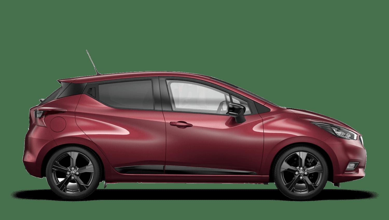 Burgundy Nissan Micra