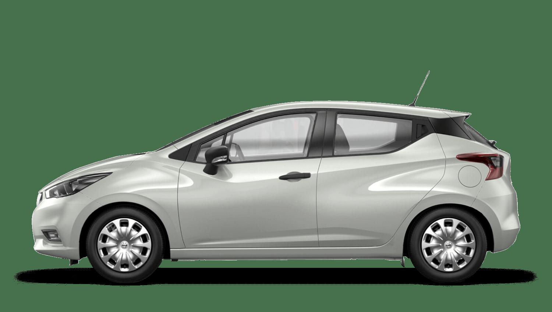 Glaze White Nissan Micra