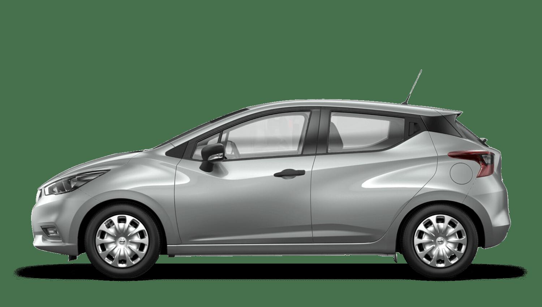 Platinum Silver Nissan Micra