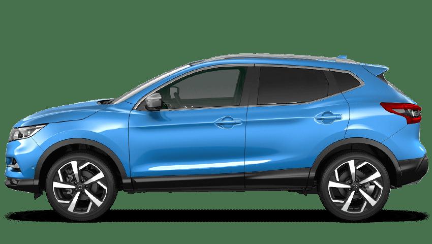Vivid Blue Nissan Qashqai