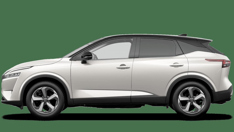 Pearl White Pearl Black Roof All-New Nissan Qashqai