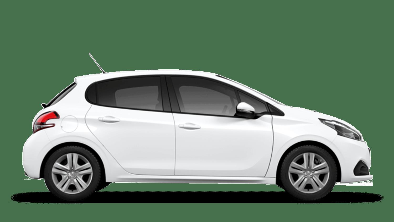 Bianca White Peugeot 208