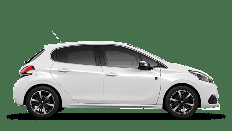 Satin White Peugeot 208