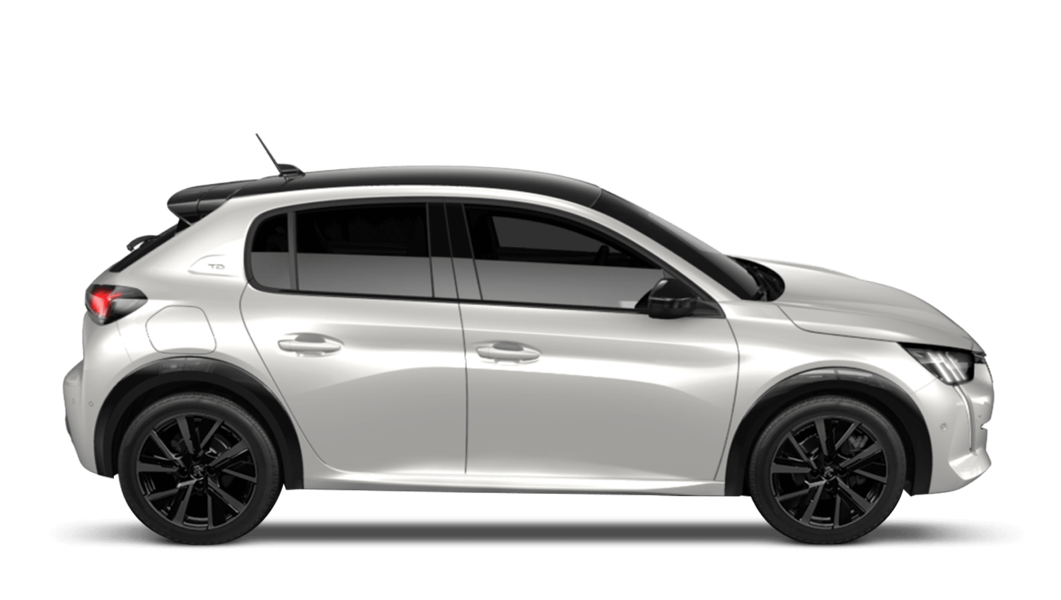 Pearlescent White Peugeot 208