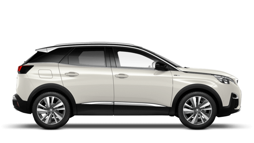 Pearlescent White Peugeot 3008 SUV