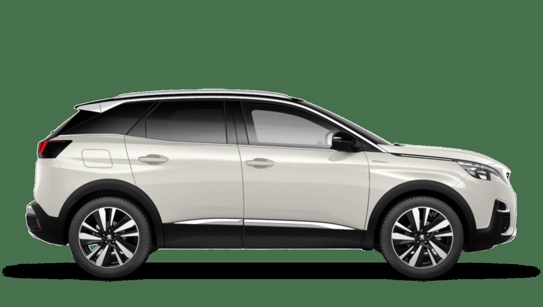 Pearlescent White Peugeot 3008 SUV Hybrid