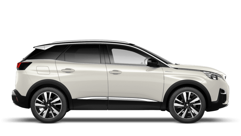 Pearlescent White Peugeot 3008 SUV Hybrid