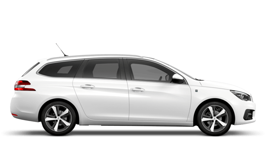 Pearlescent White Peugeot 308 SW