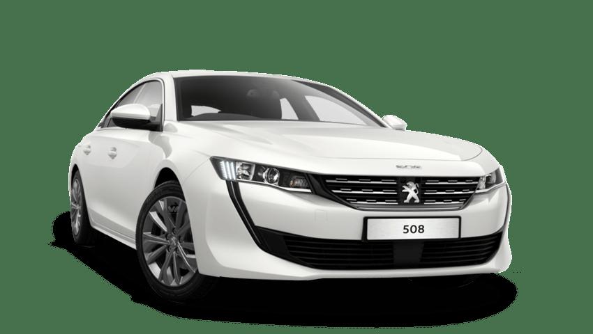 Bianca White Peugeot 508 Fastback
