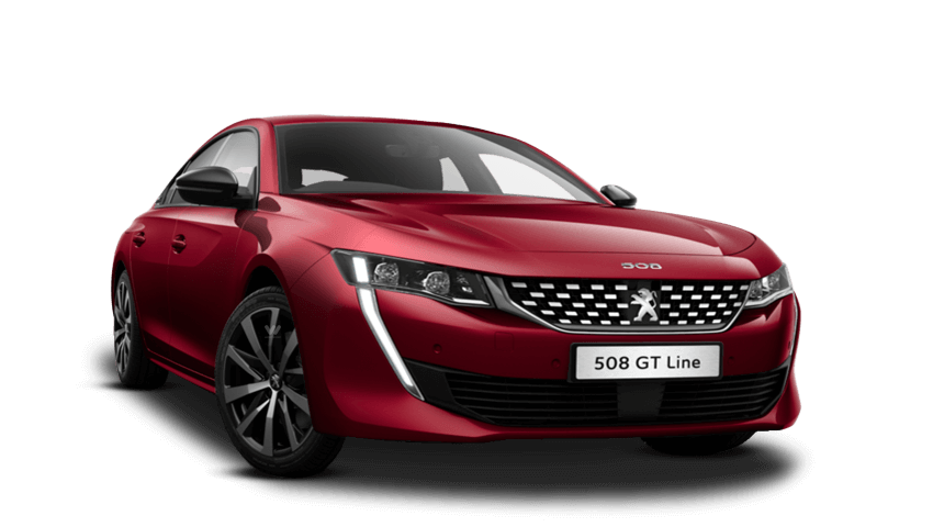 Ultimate Red Peugeot 508 Fastback