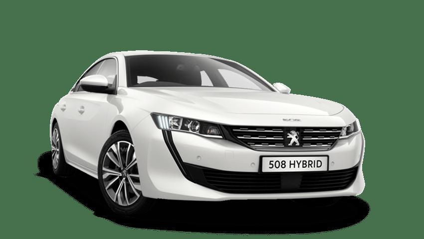 Bianca White Peugeot 508 Hybrid