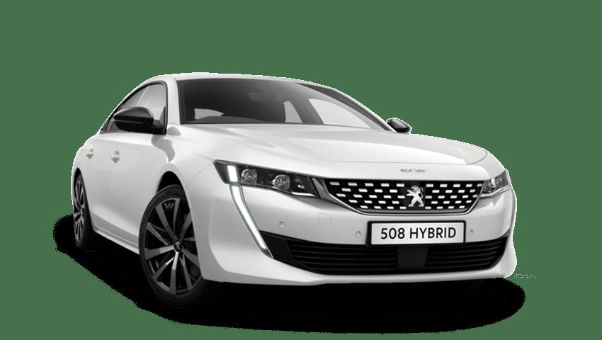 Pearlescent White Peugeot 508 Hybrid