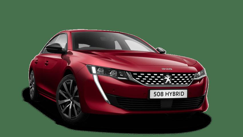 Ultimate Red Peugeot 508 Hybrid