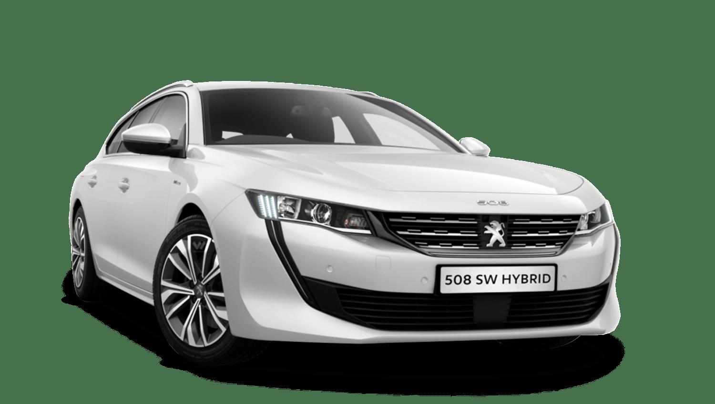 Pearlescent White Peugeot 508 Sw Hybrid