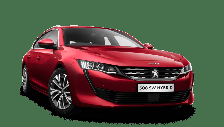 Ultimate Red Peugeot 508 Sw Hybrid