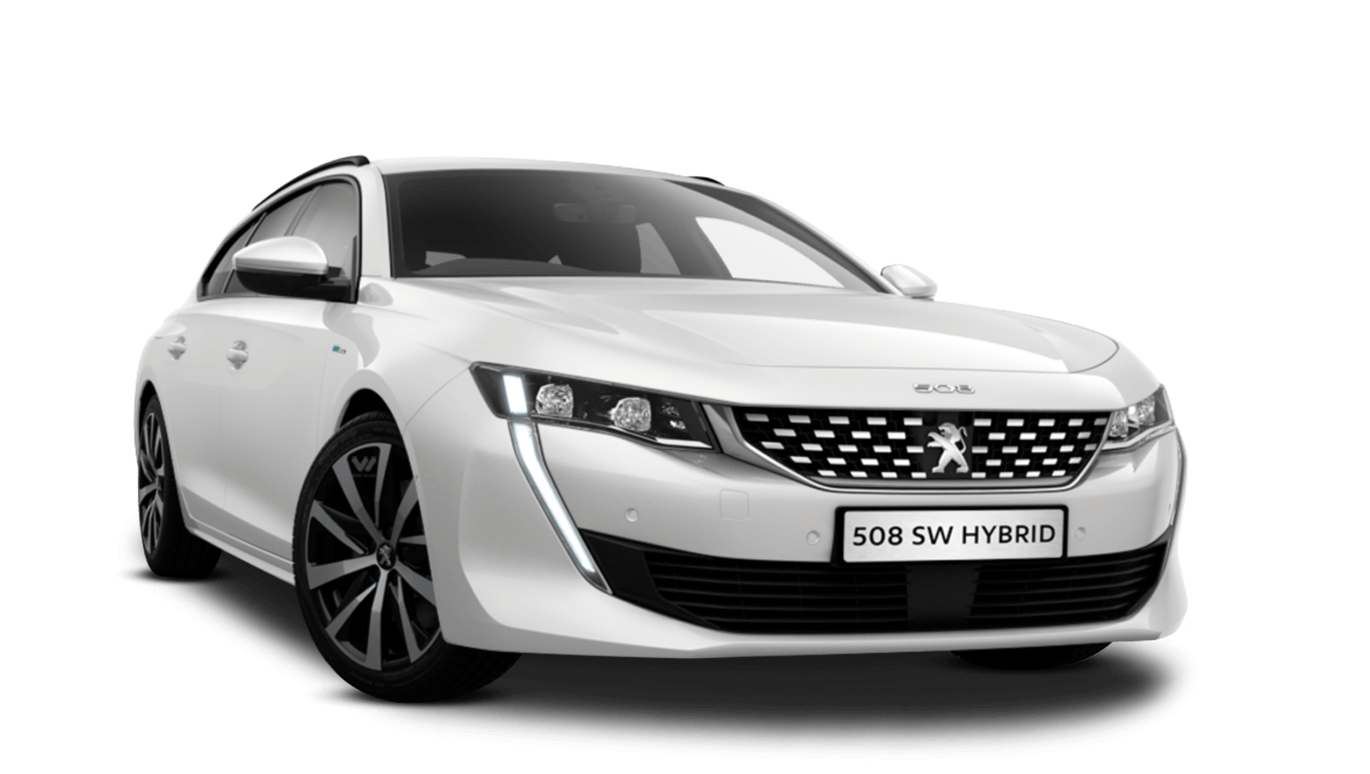 Pearlescent White Peugeot 508 Sw Hybrid