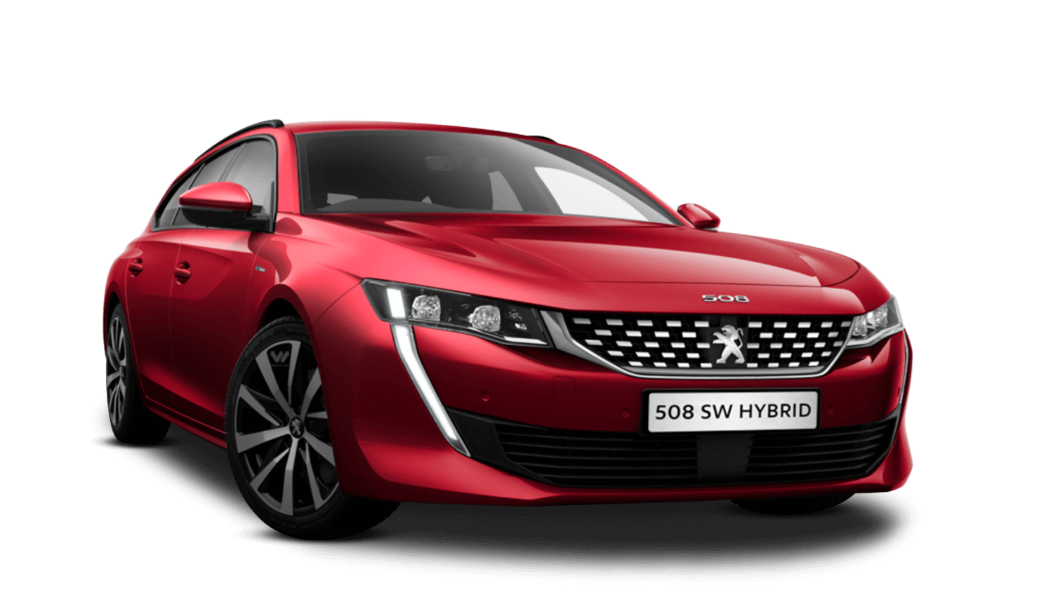 Ultimate Red Peugeot 508 Sw Hybrid