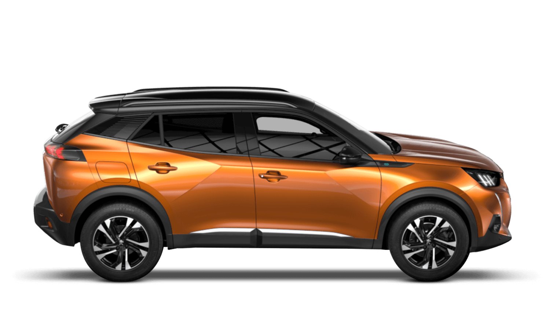 Orange Fusion All-new Peugeot e-2008 SUV