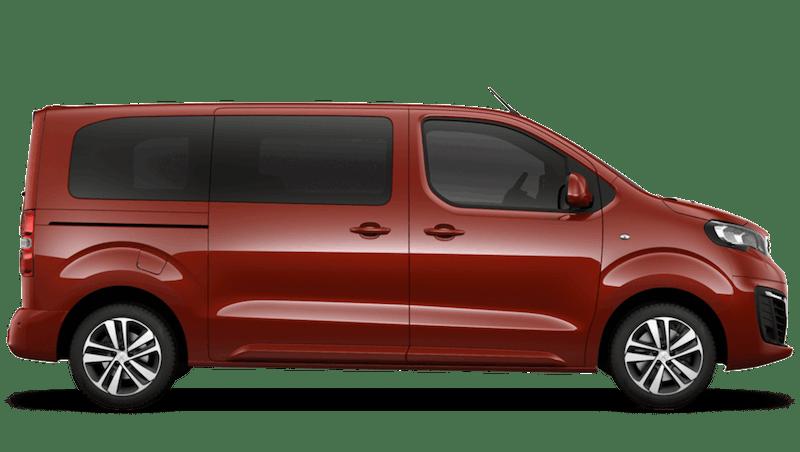 Amber Red Peugeot e-Traveller