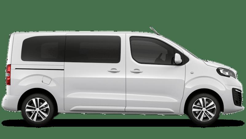 Bianca White Peugeot e-Traveller