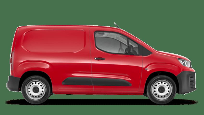 Ardent Red Peugeot Partner