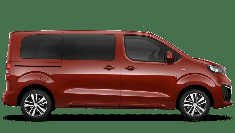 Amber Red Peugeot Traveller