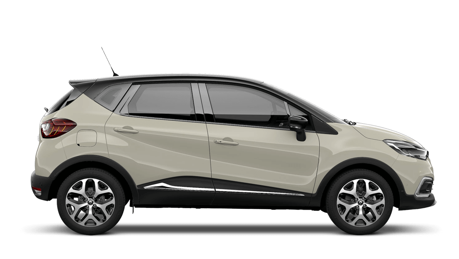 Ivory with Diamond Black roof Renault CAPTUR