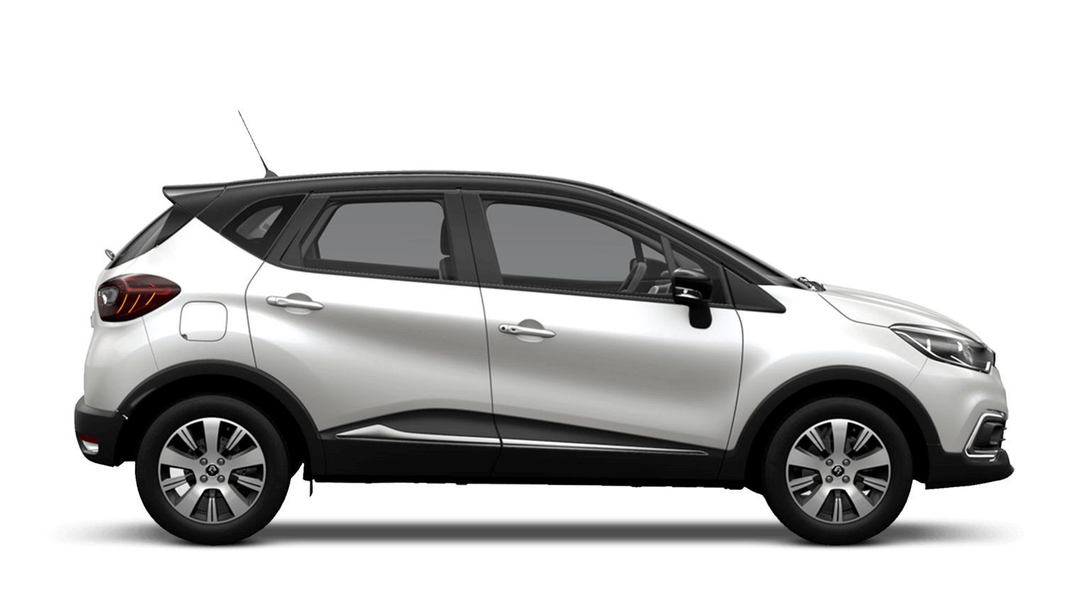 Arctic White with Diamond Black roof Renault CAPTUR