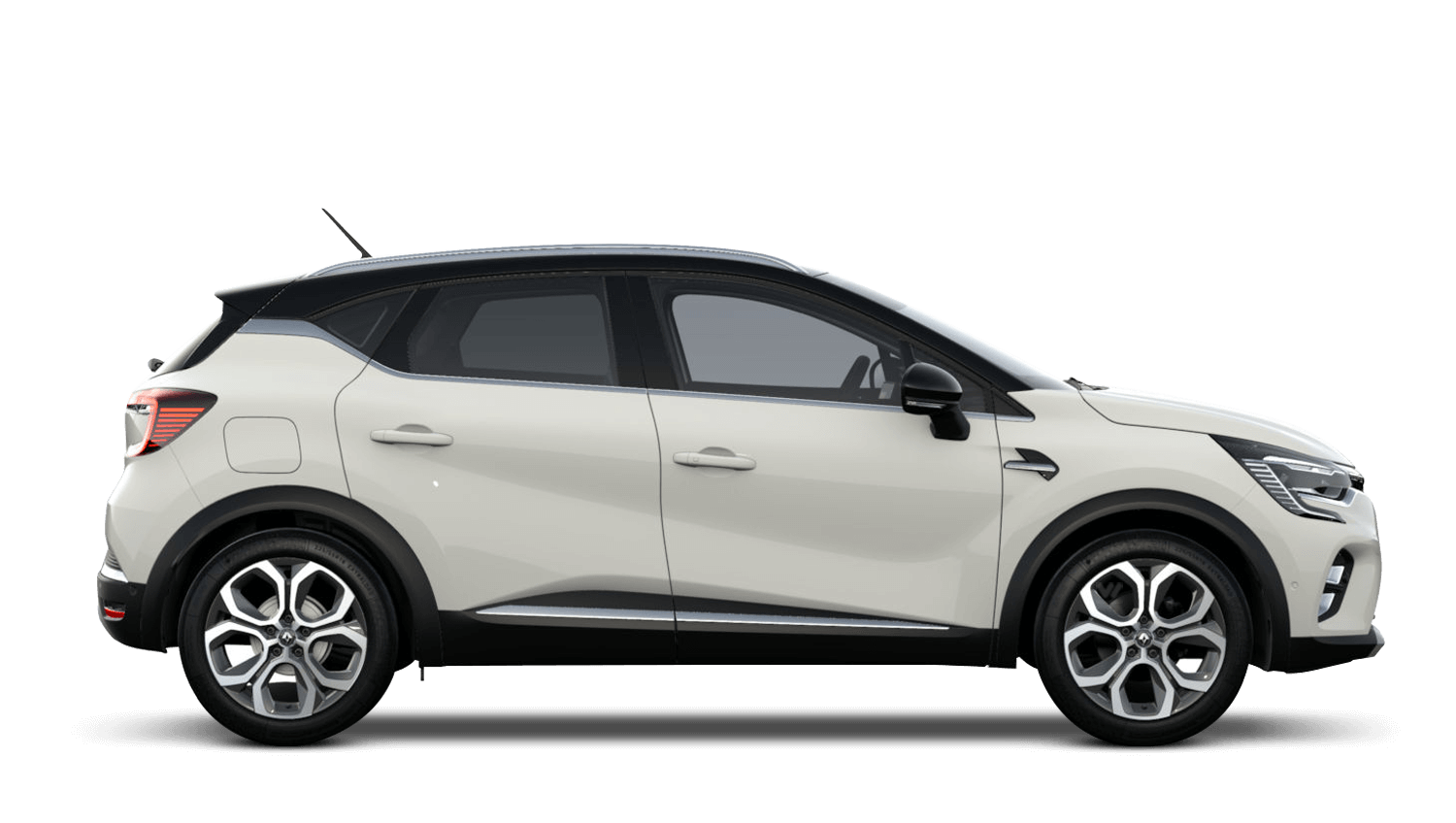 Alabaster White with Diamond Black Roof All-New Renault CAPTUR
