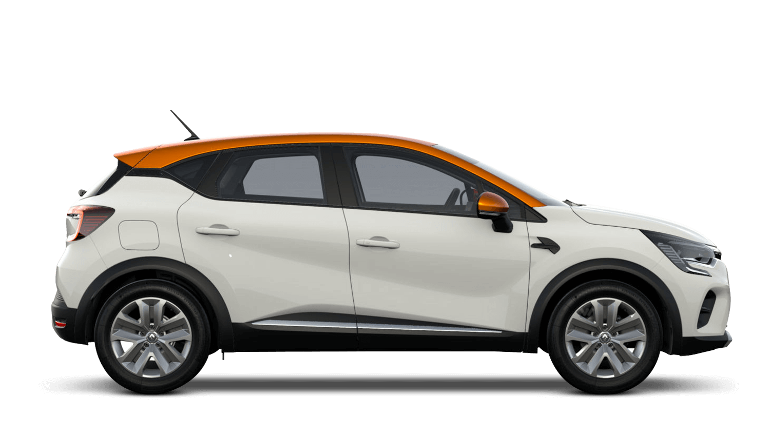 Alabaster White with Desert Orange Roof All-New Renault CAPTUR
