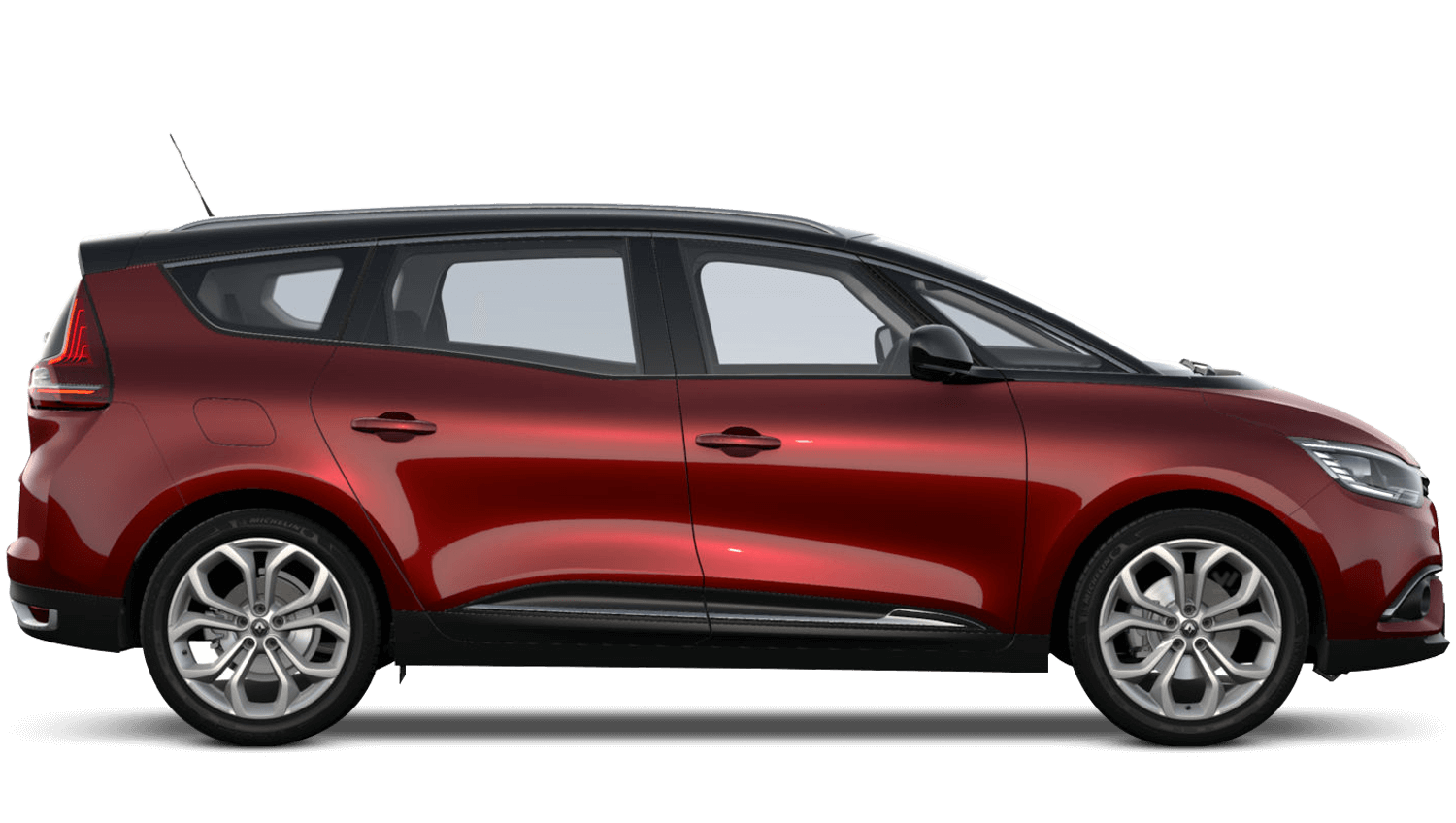 Carmin Red with Diamond Black roof Renault Grand SCENIC