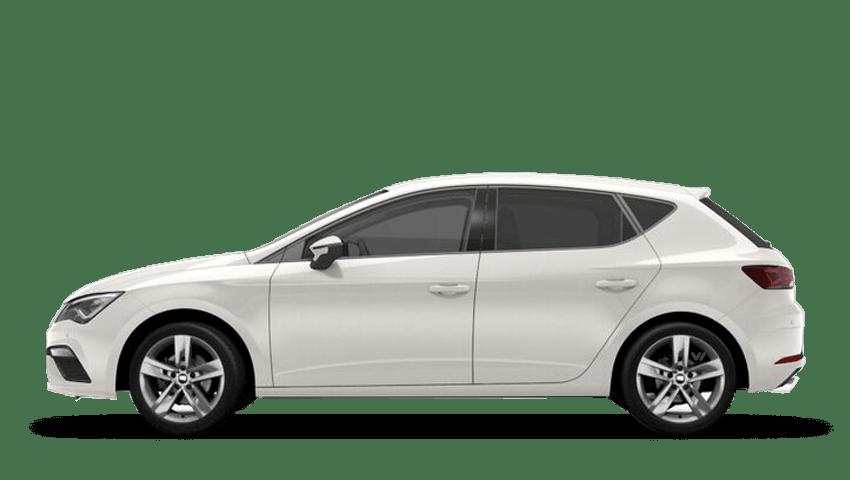 White SEAT Leon 5 Door