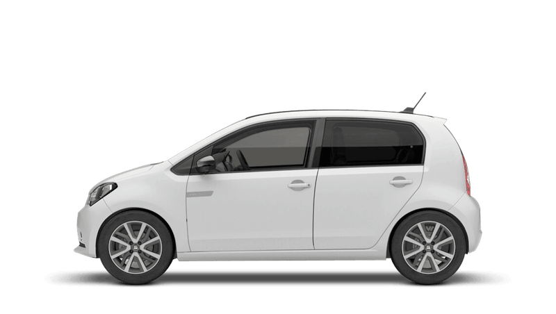 White with Deep Black Roof (Solid) SEAT Mii Electric