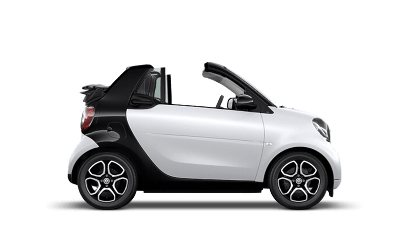 Matt Moon White (Metallic) smart fortwo cabrio