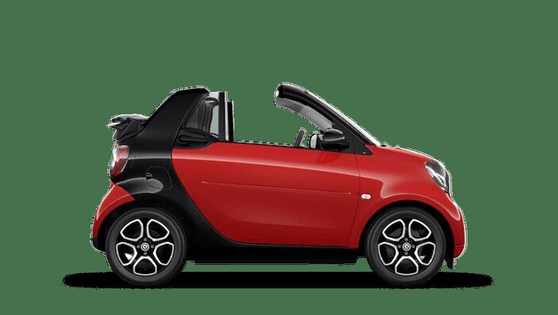 Red smart fortwo cabrio