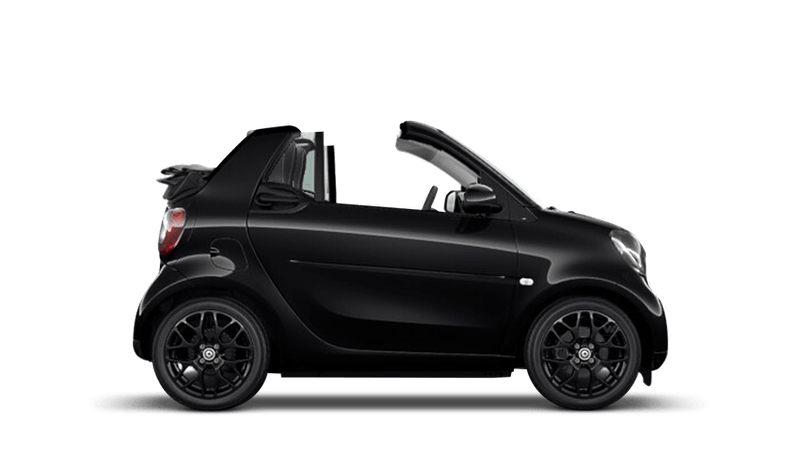 Black smart fortwo cabrio
