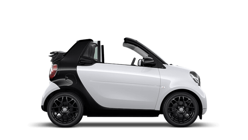 White smart fortwo cabrio