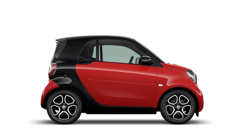 Red smart fortwo Coupe