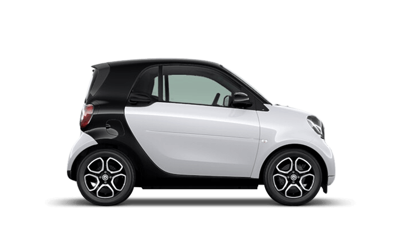 White smart fortwo Coupe