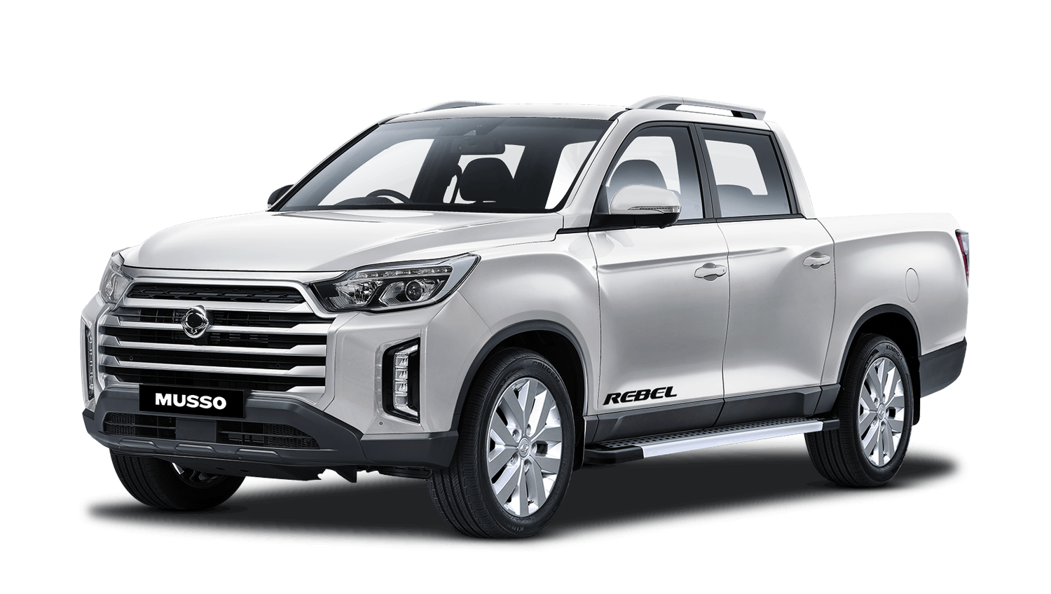 Grand White Ssangyong Musso