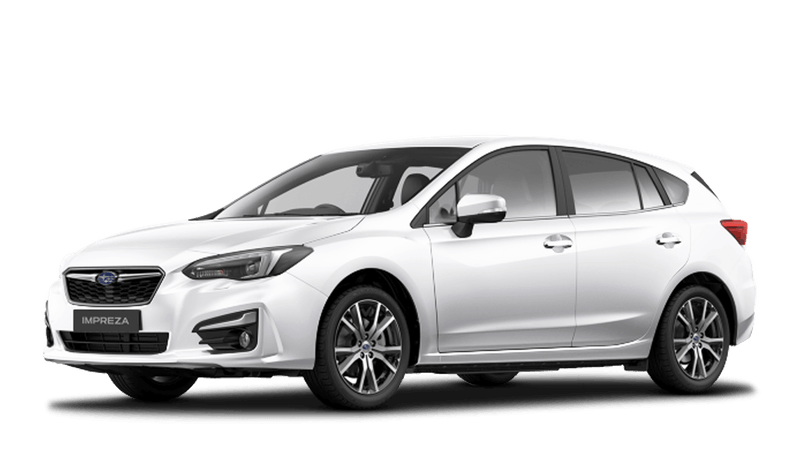 Crystal White Pearl Subaru Impreza