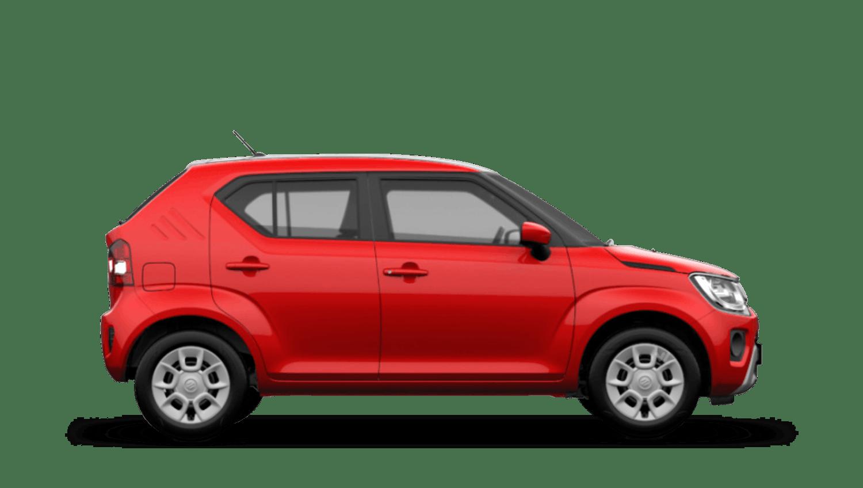 Fervent Red with Black Roof (Dual Tone) Suzuki Ignis