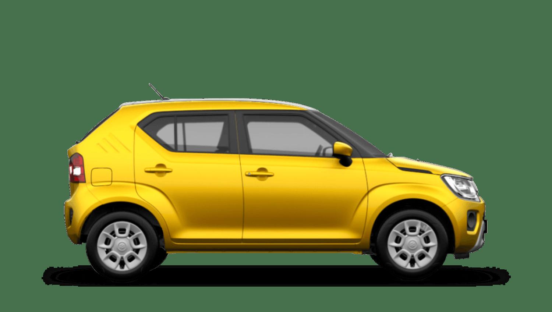 Rush Yellow with Black Roof (Metallic Dual Tone) Suzuki Ignis