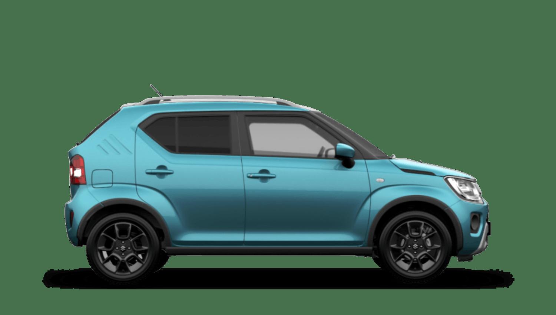 Neon Blue with Black Roof (Metallic Dual Tone) Suzuki Ignis
