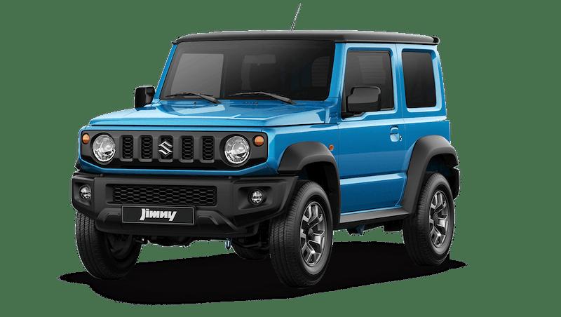 Brisk Blue Metallic with Blueish Black Pearl Metallic Roof (Dual Tone) Suzuki Jimny
