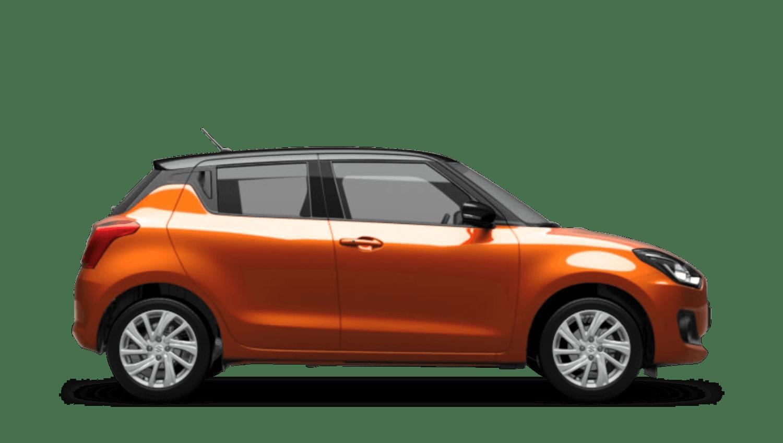 Flame Orange with Super Black Roof (Dual Tone) Suzuki Swift