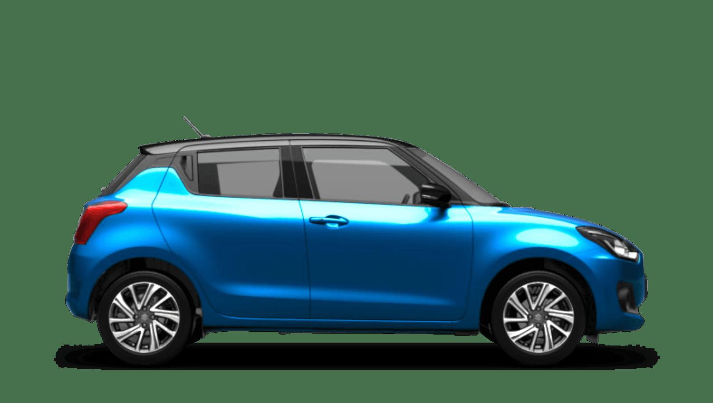 Speedy Blue with Super Black Roof (Dual Tone) Suzuki Swift