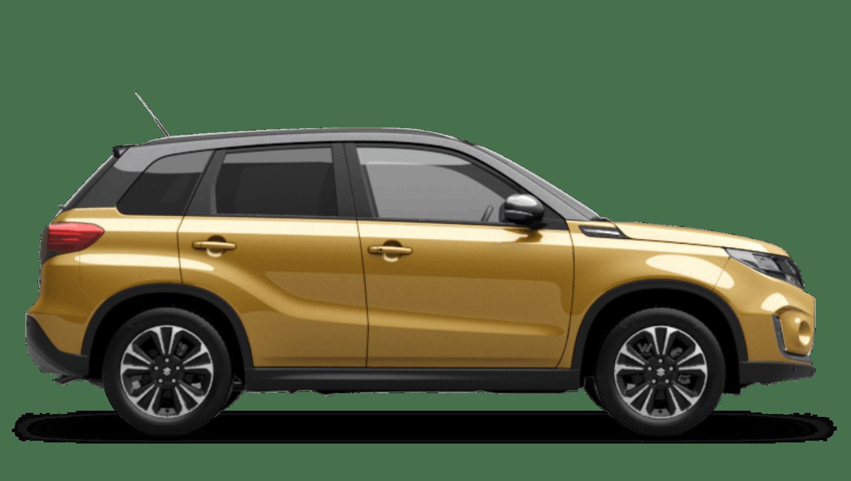 Solar Yellow Pearl Metallic with Cosmic Black Pearl Metallic Roof (Dual Tone) Suzuki Vitara