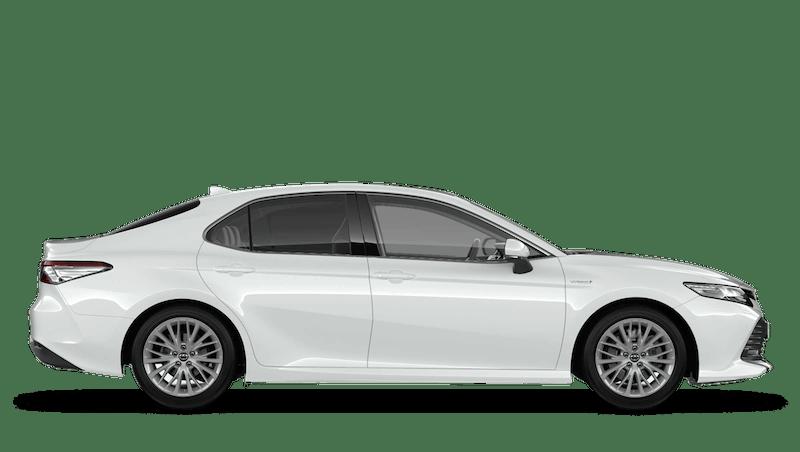 Platinum White (Pearl) New Toyota Camry Hybrid