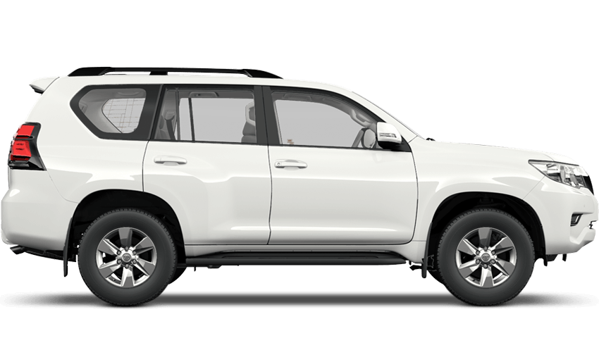Pure White (Solid) Toyota Land Cruiser